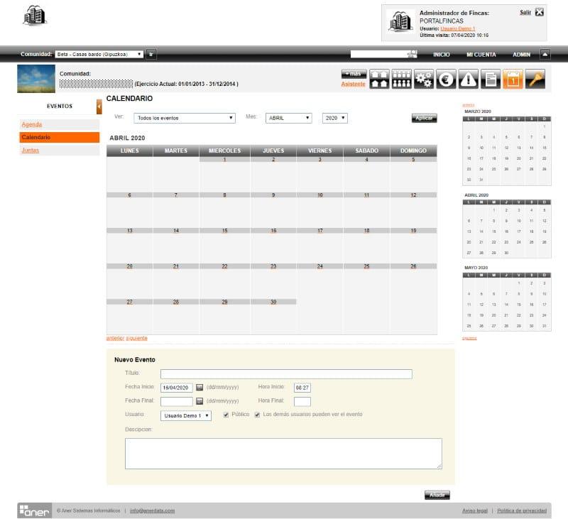 calendario para administracion de fincas programa administracion de fincas - Programa administración de fincas